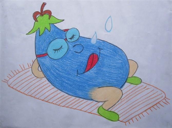 茄子-蜡笔画图集