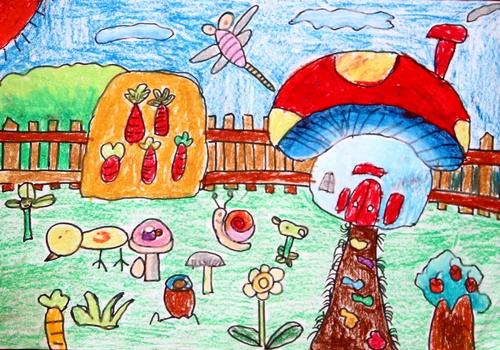 蘑菇-蜡笔画图集7