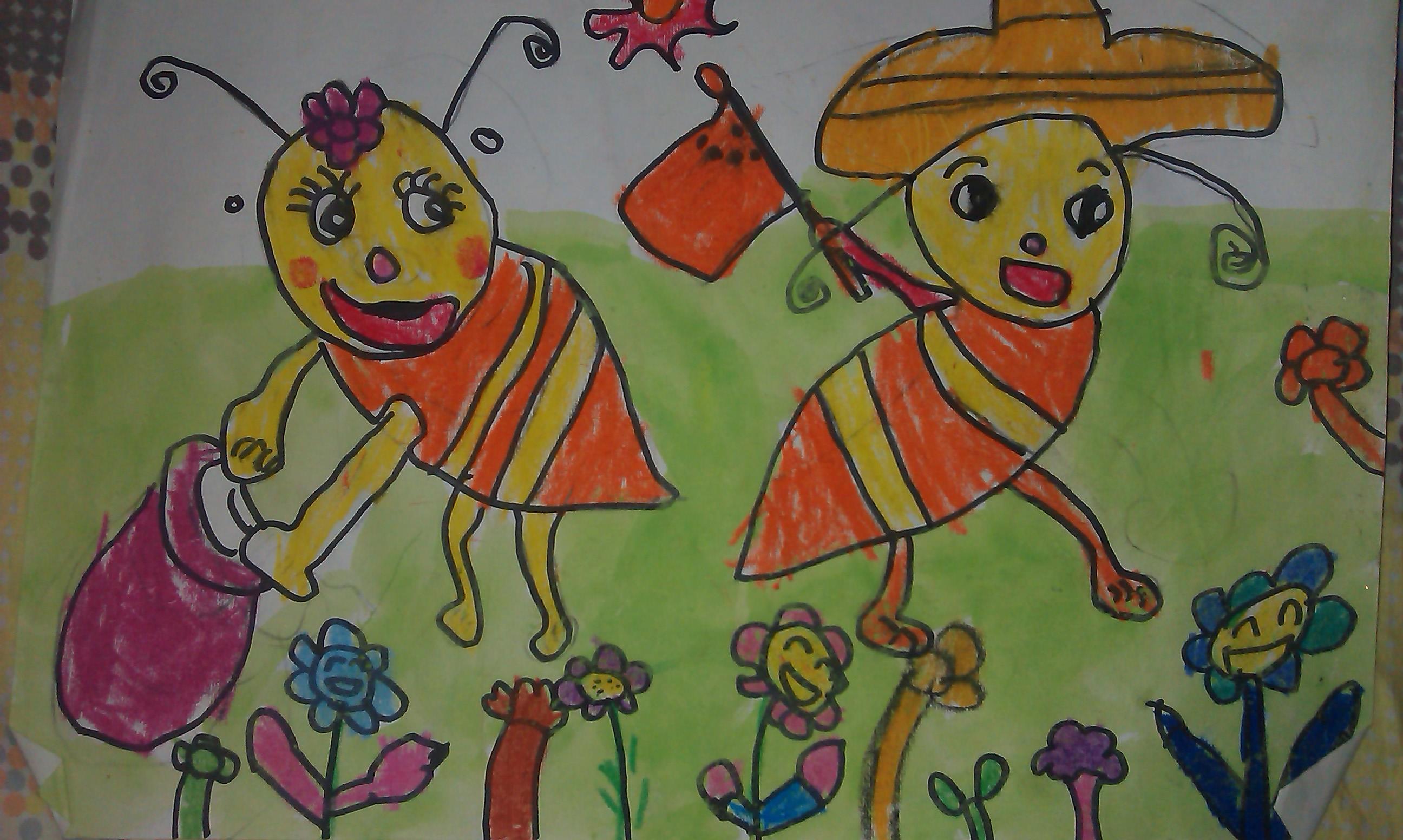 蚂蚁-蜡笔画图集2