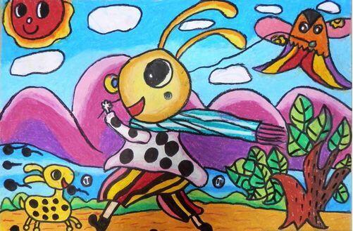 蚂蚁-蜡笔画图集3