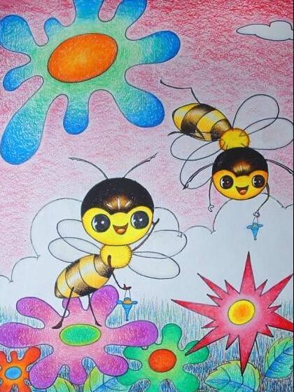 蚂蚁-蜡笔画图集4