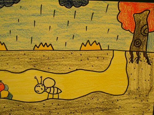 蚂蚁-蜡笔画图集7