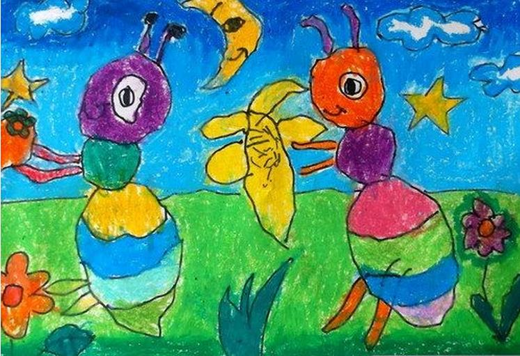 蚂蚁-蜡笔画图集8