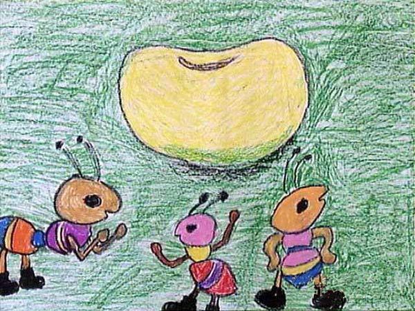 蚂蚁-蜡笔画图集9