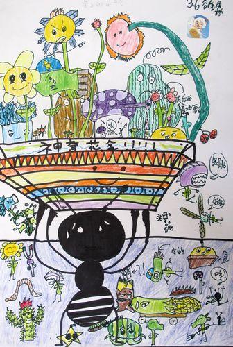 蚂蚁-蜡笔画图集10