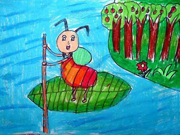 蚂蚁-蜡笔画图集12