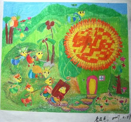 蚂蚁-蜡笔画图集13