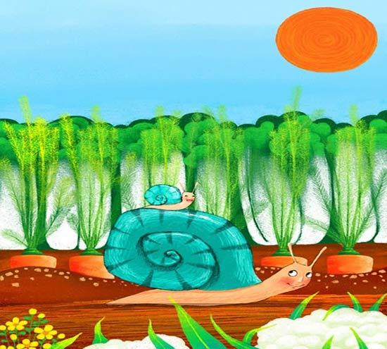 蜗牛-蜡笔画图集2