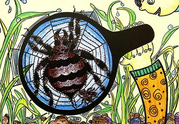蜘蛛-蜡笔画图集
