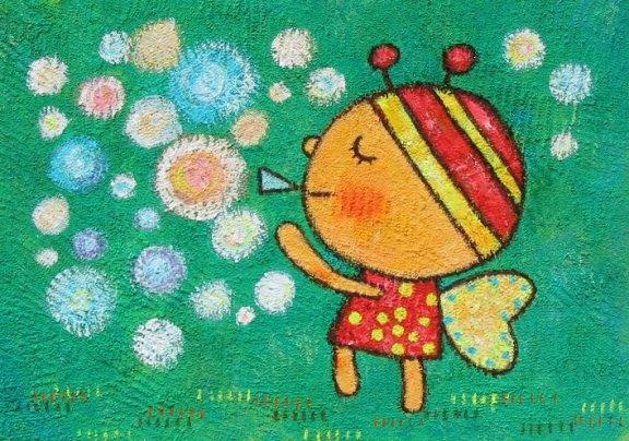 蜜蜂-蜡笔画图集2