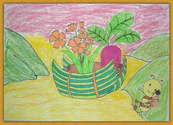 蜜蜂-蜡笔画图集6