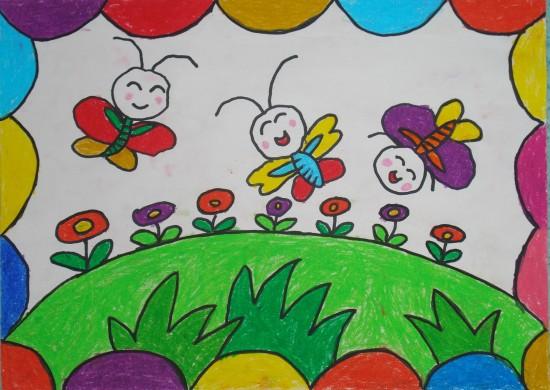 蜜蜂-蜡笔画图集12