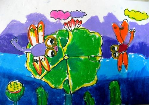 蜻蜓-蜡笔画图集3