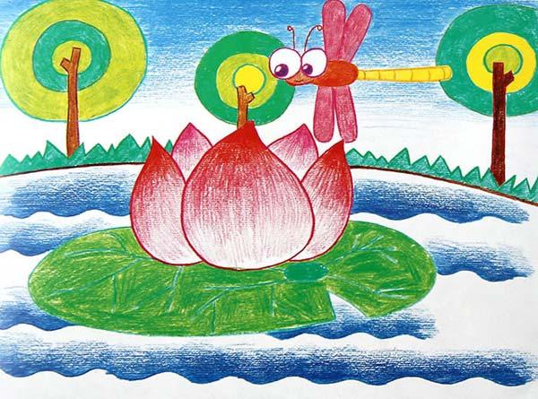 蜻蜓-蜡笔画图集7