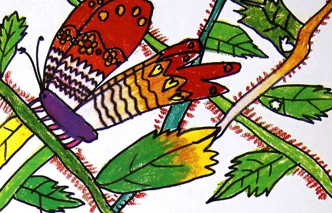 蝴蝶-蜡笔画图集2