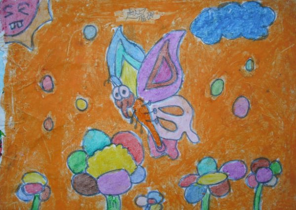 蝴蝶-蜡笔画图集3