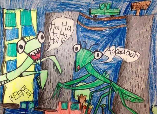 蟑螂-蜡笔画图集