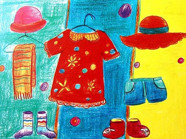 衣服-蜡笔画图集图片_儿童蜡笔画_少儿图库_中国儿童图片
