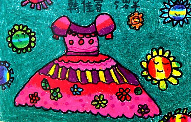 衣服-蜡笔画图集3