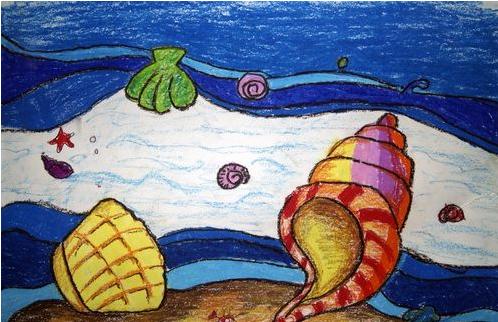 贝壳-蜡笔画图集2