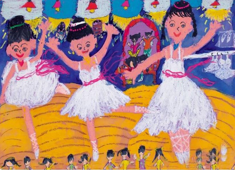 跳舞-蜡笔画图集5