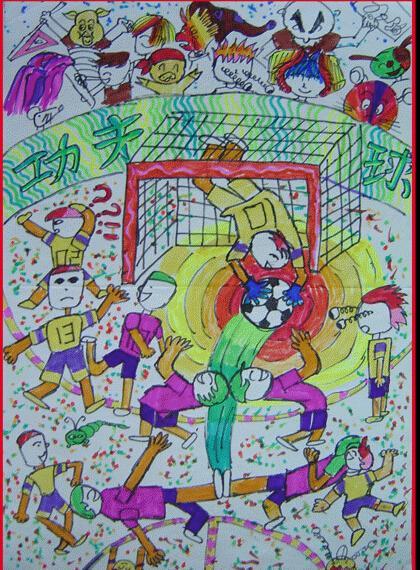 运动-蜡笔画图集