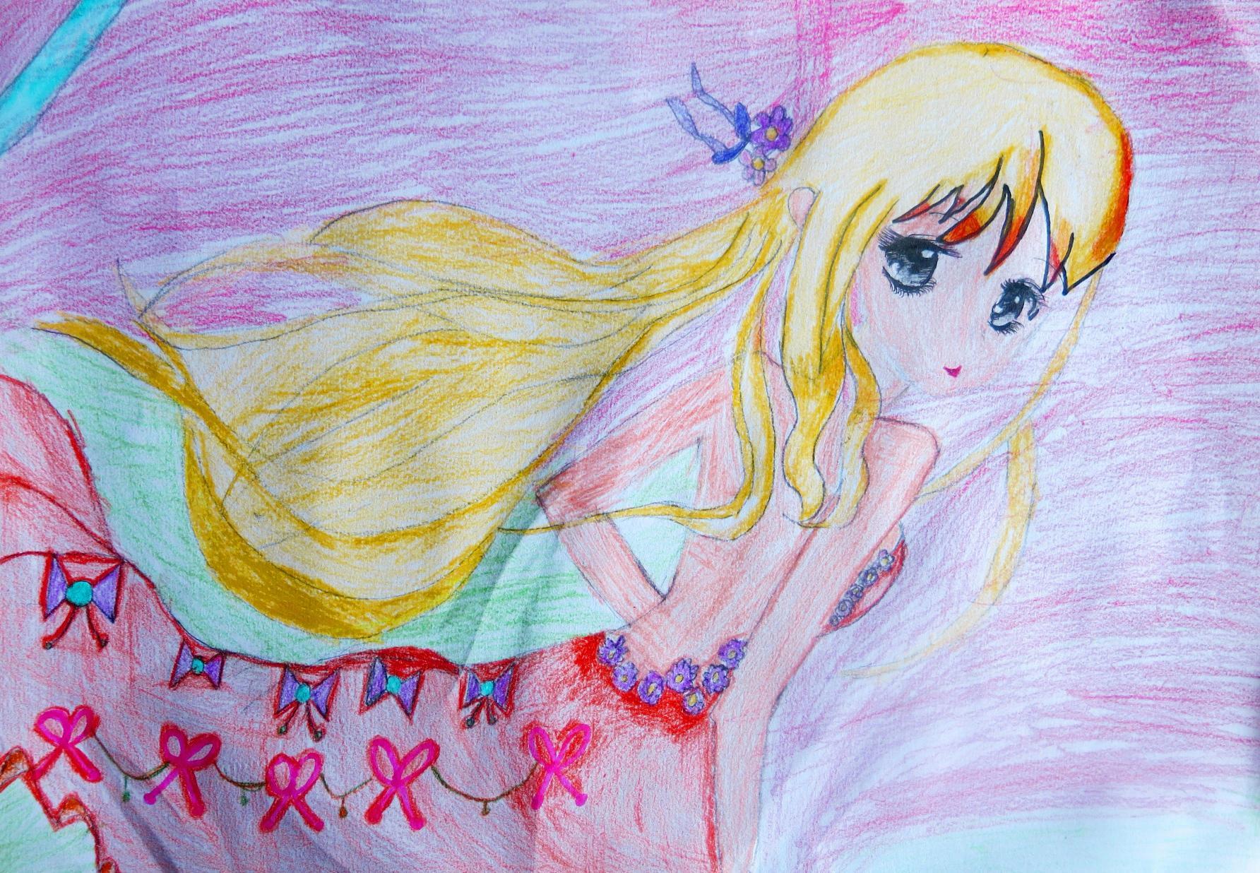 青春美少女-蜡笔画图集3