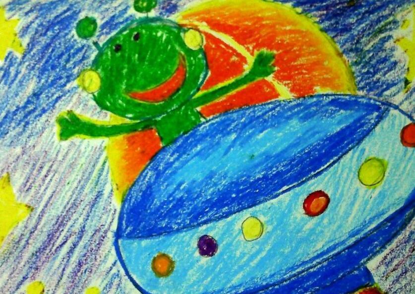 青蛙-蜡笔画图集4