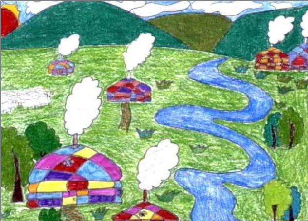 风景-蜡笔画图集