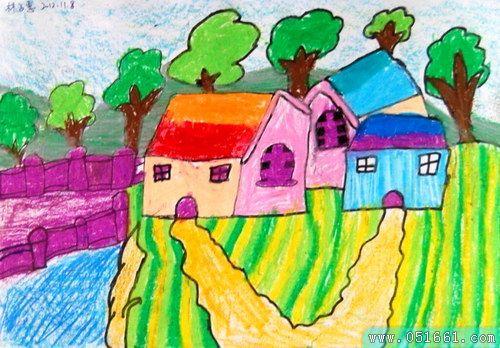 风景-蜡笔画图集4