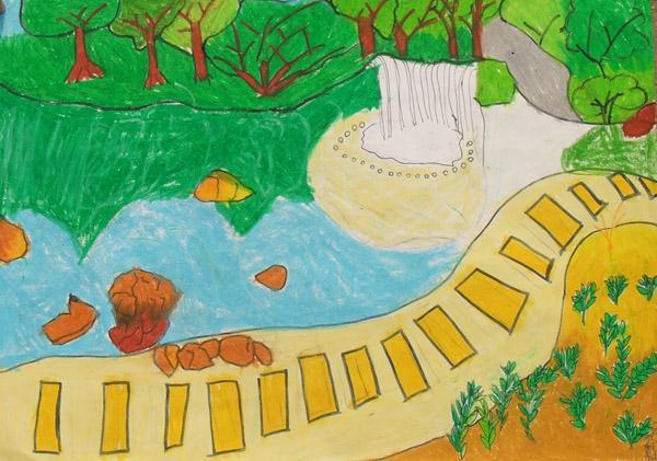 风景-蜡笔画图集6