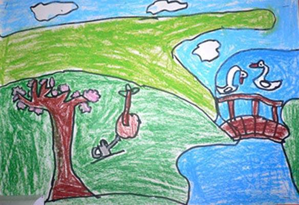 风景-蜡笔画图集7