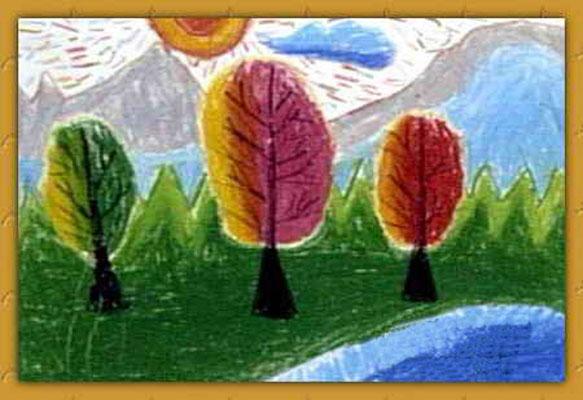 风景-蜡笔画图集10