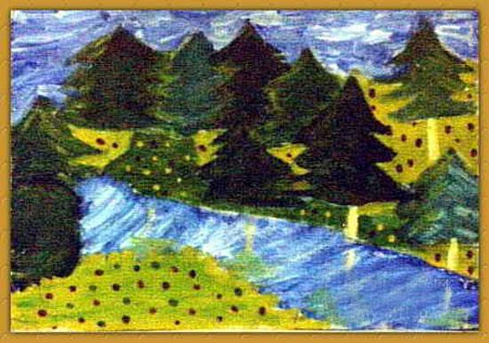 风景-蜡笔画图集14
