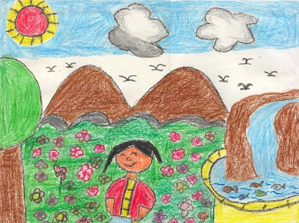 风景-蜡笔画图集25