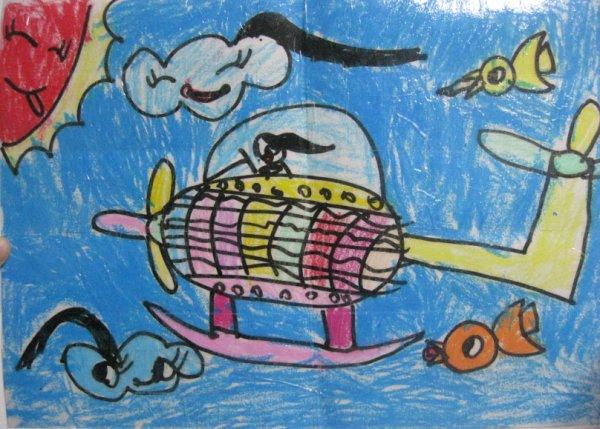 飞机-蜡笔画图集2