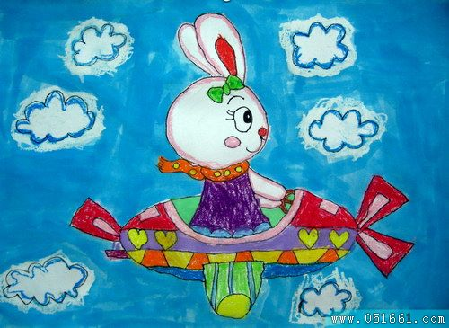 飞机-蜡笔画图集3