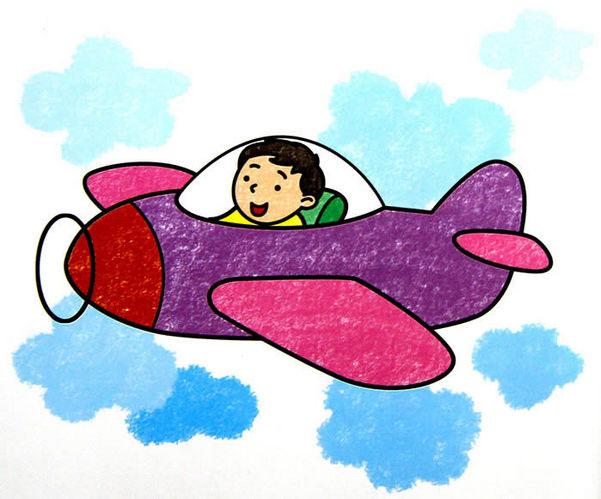 飞机-蜡笔画图集4