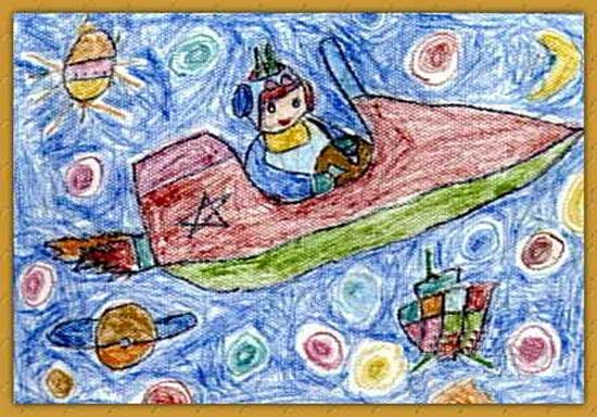 飞机-蜡笔画图集5