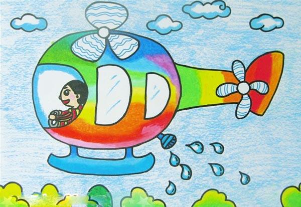 飞机-蜡笔画图集7