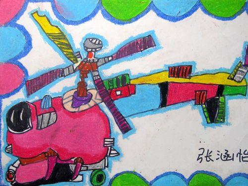 飞机-蜡笔画图集12