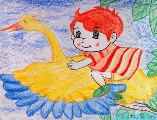 飞翔-蜡笔画图集
