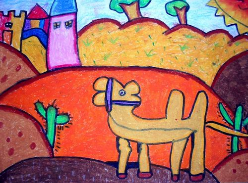 骆驼-蜡笔画图集