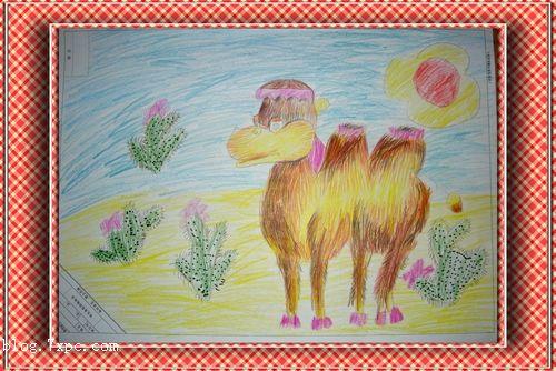 骆驼-蜡笔画图集2