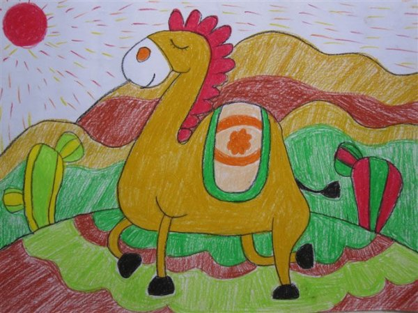 骆驼-蜡笔画图集3