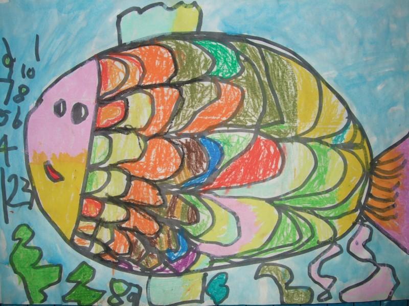 鱼-蜡笔画图集4