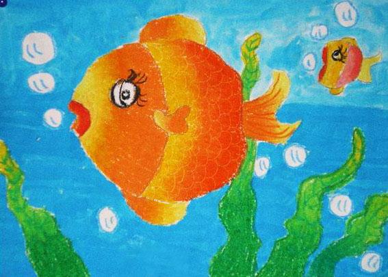 鱼-蜡笔画图集5