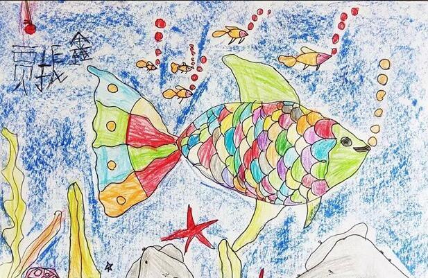鱼-蜡笔画图集12