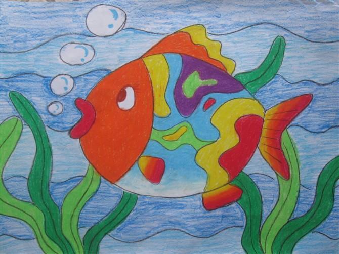鱼-蜡笔画图集16