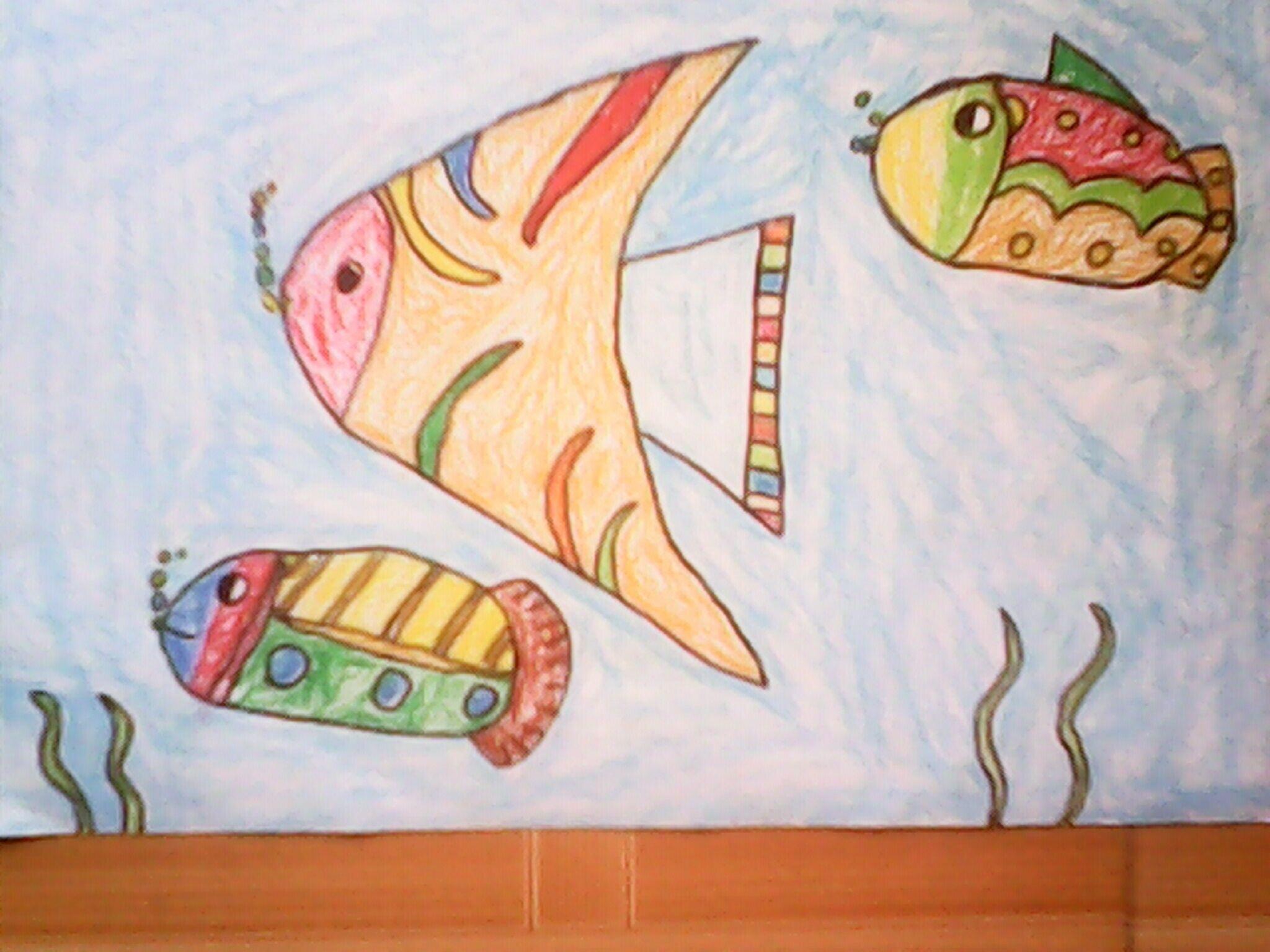 鱼-蜡笔画图集20